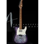 Tom Anderson G200310 Top T Classic Shorty, Abalone to T-Purple Burst with Binding Electric Guitar