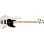 Squier 0370450505 Contemporary Active Jazz Bass HH, Maple neck, Flat White