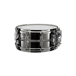 "Yamaha YSS1455SG Steve Gadd 5.5x14"" Steel Signature Snare with Die-Cast Hoops, Black Nickel Finish"