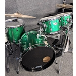 Ludwig 100CM4GSUSED LUDWIG USA 100th Anniversary (2009) Classic Maple 4-pc Kit in Green Sparkle