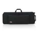 Gator GK-61-SLIM Rigid EPS Foam Lightweight Case w/ Wheels for Slim 61-Note Keyboards
