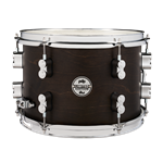 "Pacific PDSN0812DMDW 8x12"" Specialty LTD DRY Snare, 8x12"" Maple Shell in Dark Walnut stain with chrome hardware"