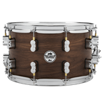 "Pacific PDSN0814MWNS 8x14"" 20-ply Maple/Walnut LTD Snare Drum with dw MAG throw-off"