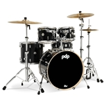 Pacific PDCM2215MD pdp CM5 Concept Maple 5-pc Shell Pack (10/12/16/22/14S) in Meteor Dust finish with chrome hardware & double tom holder