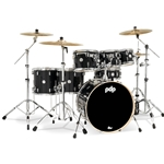 Pacific PDCM2217MD pdp CM7 Concept Maple 7-pc Shell Pack (8/10/12/14/16/22/14S) in Meteor Dust finish with chrome hardware & double tom holder