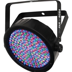 Chauvet SLIMPAR64RG Par-style LED Lighting Fixture with 180 x LEDs (39 x Red, 39 x Green, 51 x Blue, 51 x Amber), Built-in Progams, Sound-activation Mode, and 8-/8-channel DMX Operation