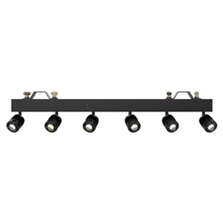 Chauvet PINSPOTBAR 6-head Lighting Fixture with 6x 15W Warm White LEDs, 5/10/20-degree Beam Angles, and DMX Control
